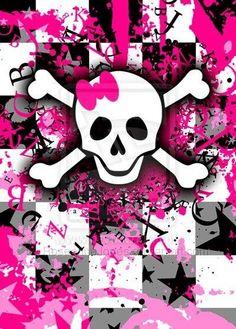 Pink Skull Wallpaper, Emo Wallpaper, Gothic Wallpaper, Homescreen Wallpaper, Wallpaper Iphone Cute, Wallpaper Backgrounds, Hd Cool Wallpapers, Emo Art, Sugar Skull Art