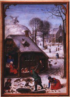 Simon Bening : January (Unknown) 1483-1561 シモン・ベニング
