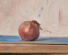 Onion on blue  Julian Merrow-Smith. 3-1-16
