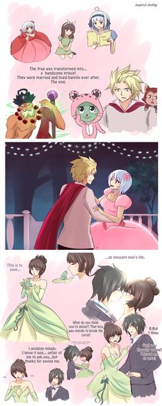 The Princess and the Frog AU by Inspired-Destiny Sting X Yukino - Rogue X Kagura - Sabertooth / Fairy Tail