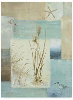 Lisa Audit 'Blue Waters I' Leinwand – 24 x 32 - Zurück zum College Artist Canvas, Canvas Art, Poseidon, Framed Artwork, Wall Art, Water Me, Water Glass, Canadian Artists, Collage