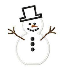 Applique Designs - Santa & Snowman w/Face Cloths - Embroidery