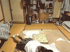 Girl Sliding Around the Floor On Her stomach.
