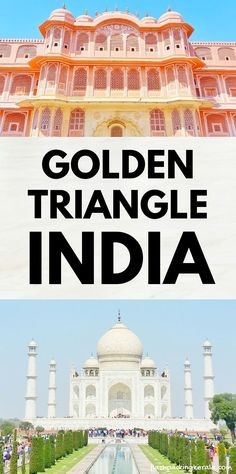 Golden Triangle India itinerary as DIY tour by train, bus, taxi 🚊 Backpacking India Kerala Travel, India Travel Guide, Asia Travel, Most Beautiful Cities, Beautiful Places To Visit, Cool Places To Visit, Golden Triangle India, Jaipur, Rajasthan India