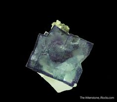 Fluorite (fluorescent) on Quartz, Yaogangxian Mine, Chenzhou Prefecture, Hunan Province, China, Small Cabinet, 5.5 x 5 x 2.5 cm, Classic for the famous Yaogangxian Mine, this specimen features an intricate, sharp Fluorite crystal to 3.6 cm across., For sale from The Arkenstone, www.iRocks.com. For more details on this piece and others, visit http://www.irocks.com/minerals/specimen/42987