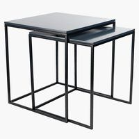 Looking for a glass coffee table? Find affordable coffee tables and side tables in various styles and materials at JYSK. Retro Living Rooms, Coffee And End Tables, Yangon, Ikea Hack, Black Wood, Home Remodeling, Scandinavian Style, Dining, Interior
