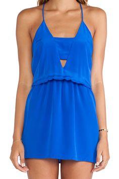 Karina Grimaldi Matilda Mini Dress in Ocean Solid