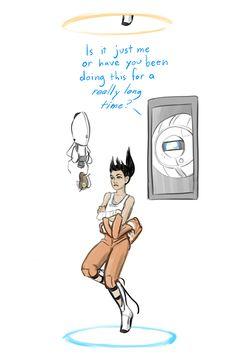 rubitrightintomyeyes: Happy 2 Year Anniversary, Portal >> I imagine Chell as being really sassy Portal Art, Portal 2 Game, 2 Year Anniversary, Wedding Anniversary, Portal Memes, Portal Wheatley, Valve Games, Aperture Science, Funny Memes