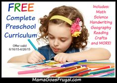 FREE Complete Preschool Curriculum download - 10 days only!