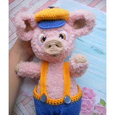 Amigurumi PIGLET Crochet pattern, Tommy the pig