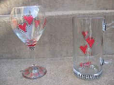 Craft Klatch: Valentine's Day Glassware Craft Tutorial