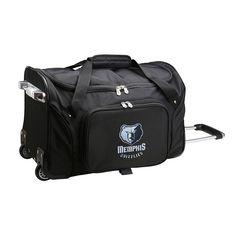 Denco Memphis Grizzlies 22-Inch Wheeled Duffel Bag, Black