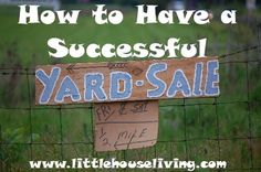 Have a Successful Yard Sale (Traditional and Online)