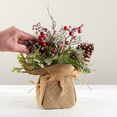 'Winter's First Frost' Floral Arrangement - Table Decor - Christmas and Winter - Holiday Crafts Winter Floral Arrangements, Christmas Flower Arrangements, Holiday Centerpieces, Christmas Flowers, Xmas Decorations, Christmas Time, Christmas Wreaths, Christmas Ornaments, Christmas Candles