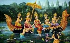 The Seven Sisters Cambodian myth Tattoo Life, Cambodian Art, Vietnam, Angkor Wat Cambodia, History Tattoos, Khmer Empire, Thai Art, Dance Art, Indian Art