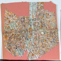 guy_debord_carte_de_paris_ Guy Debord, Situationist International, Style Sheet, Old Maps, Cartography, City Photo, Plans, Bobs, Inspiration
