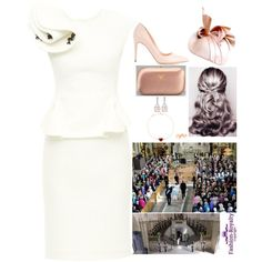 Royal Crossovers/AU: HRH the Duchess of Normandy attends the christening of Princesses Lilian and Aveline of Sweden and Denmark, and the reception and luncheon afterwards by charlottebernadotte on Polyvore featuring Rupert Sanderson, Prada, Van Cleef & Arpels, Paloma Picasso and Jane Taylor