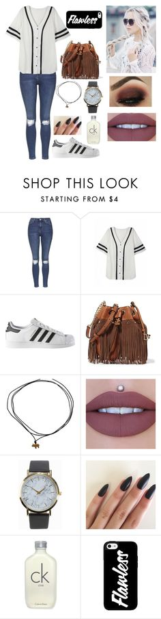 """""""Untitled #168"""" by rebecapaynefarro on Polyvore featuring Topshop, adidas, Diane Von Furstenberg, NLY Accessories and Calvin Klein"""
