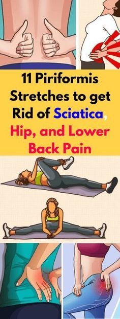 Here 11 Piriformis Stretches To Get Rid Of Sciatica, Hip, & Lower Back Pain! -… Here 11 Piriformis Stretches To Get Rid Of Sciatica, Hip, & Lower Back Pain! Sciatica Symptoms, Sciatica Pain Relief, Sciatica Exercises, Sciatic Pain, Back Pain Exercises, Sciatic Nerve, Nerve Pain, Hip Pain Relief, Lower Back Pain Relief