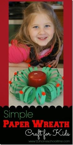 Here is a super cute, and easy to makepaper wreath craftout of green construction paper and pompoms. This is an easy Christmascraft for kidsis perfect for toddler, preschool, pre-k, kindergarten, and elementary age kids. They will love that thisChristmascraft ideas for kids is not only fun-to-make but makes a festive holiday decoration for the month of December.