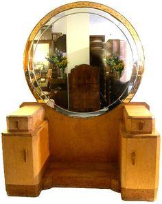 antique dressing table with round mirror regency - Recherche Google