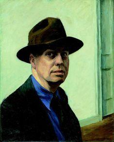 Edward Hopper, Self-Portrait (Autoportrait), 1925-1930. New York, Whitney Museum of American Art. Legs de Josephine N. Hopper, 70.1165© Heirs of Josephine N. Hopper, licensed by the Whitney Museum of American Art, N. Y. Photo Geoffrey Clements