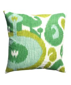 Take a look at this Green Abstract Karma Throw Pillow by Frog Hill Designs on #zulily today!