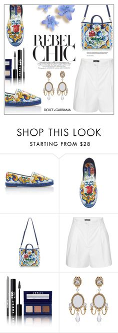 Sem título #1625 by soniamazeto on Polyvore featuring moda, Dolce&Gabbana and LORAC