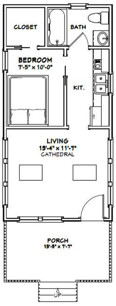 Garage Floor Plans, Small Floor Plans, Small House Plans, House Floor Plans, 1 Bedroom House Plans, Small Bathroom Floor Plans, Shed House Plans, Apartment Floor Plans, Tiny House Layout