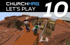 This week Jeremy jumped onto the ChurchMag Minecraft server to see the huge amount of progress that the group has made in two new theme areas.