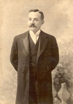 """Milton S. Hershey, age thirty, 1887. - A descendant of German and Swiss immigrants who arrived in Pennsylvania sometime in the 1700s, Milton Hershey spoke """"Pennsylvania Dutch"""" and inherited a Germanic propensity for frugality, perseverance, and hard work. At the age of thirty, Hershey was only a year removed from yet another business failure. By the early 1900s he would be the nation's largest producer of milk chocolate."""