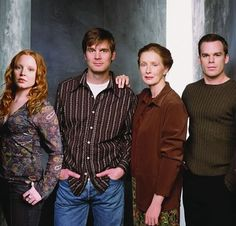 The Fishers: Claire (Lauren Ambrose,) Nate (Peter Krause,) Ruth (Frances Conroy) and David (Michael C. Hall) on HBO's 'Six Feet Under'