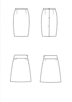 Technical drawing skirt
