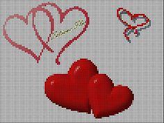 88 best cross stitch heart images on pinterest cross stitch heart