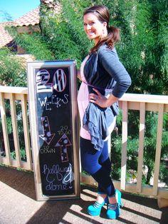 Chalkboard Pregnancy 20 Weeks: Halfway There!