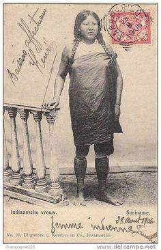 Suriname -  Indiaansche Vrouw - 1906
