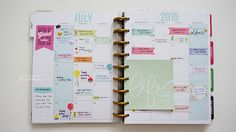 July 2015 in my Happy Planner