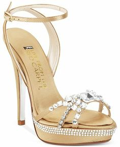 E! Live From the Red Carpet Lola Platform Evening Sandals Gold Metallic $120 FREE WORLD DELIVERY * FREE GIFT WRAPPING * FREE RETURNS * 100% QUALITY ASSURANCE GUARANTEED..FOLLOW US ON POLYVORE! WE HAVE JUST BEEN HONORED WITH THE OFFICIAL BLACK SEAL ALONG WITH GUCCI & OTHER GREAT COMPANIES! SAVE $20.00 ON THESE SHOES UNTIL DEC 21st!