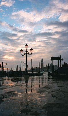 Dawn on the Piazetta, San Marco, Venice, Italy