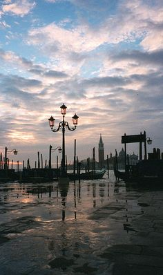Dawn on the Piazetta, San Marco, Venice, Italy