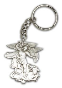 Antique Silver St. Michael the Archangel Keychain. Patron Saint of Police Officers & EMT's & Protection BM001 http://www.amazon.com/dp/B0037Z4XQ2/ref=cm_sw_r_pi_dp_xoQfwb0CXRCFT