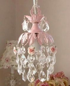 Pinkminichandelier amazon tadpoles three bulb chandelier in she has to have a chandelierybe not pink tho dreamy pink mini chandelier with roses precious for nursery or little girls room aloadofball Images