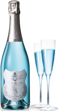 Did you know there is blue champagne? Blanc de Bleu Champagne - the perfect pale hue of blue. Now my favorite color and drink are combined….I can die happy! Whisky, Tiffany Blue, Cocktail Drinks, Alcoholic Drinks, Beverages, Blue Cocktails, Cocktails 2017, Champagne Drinks, Fancy Drinks