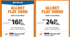 Klarmobil Telekom Allnet Flat Tarife bis zu 10GB ab 16,85€ http://www.simdealz.de/vodafone/klarmobil-smartphone-flat-angebote/