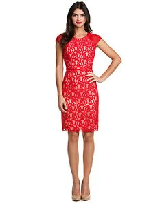 Some of you have to get in on this: Adrianna Papell Red Lace Dress Style Me, Cool Style, Business Major, Lace Dress, Dress Up, Cool Outfits, Fashion Outfits, Adrianna Papell, Red Lace