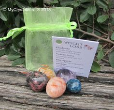 Weight Loss Kit: Rhodonite - Promotes weight loss and purificationof the body Picasso Stone - Encourages will power and strength Blue Apatite - Produces hunger supression Ametrine - For regulating weight, stimulates metabolism Sunstone - Increases digestion, helps one to reach their goals - See more at: http://www.mycrystalaura.com.au/category12_2.ht