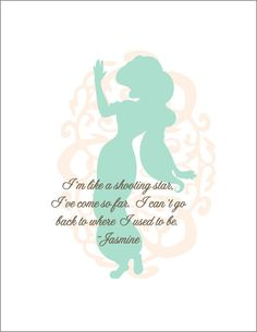 disney princess quotes | Walt Disney Princess Jasmine Print by TinyTomatoInc on Etsy