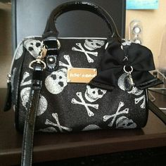 A Betsy Johnson purse black /silver