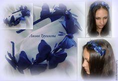 Купить Бабочки - бабочка, ободок для волос, повязка для девочки, девочкам, бабочки, атлас, шифон