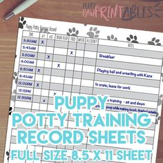 4health Puppy Food >> free puppy potty log | Potty Training Charts - 9+ Download ...